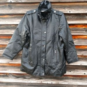 Veranesi genuine leather jacket size 14
